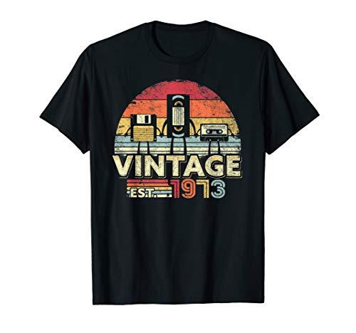 1973 Shirt. Vintage Birthday Gift, Funny Music, Tech Humor T-Shirt