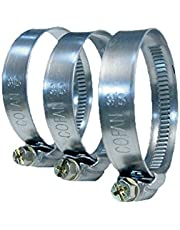 100 uds Abrazadera metálica, banda 12 mm 40-60 mm