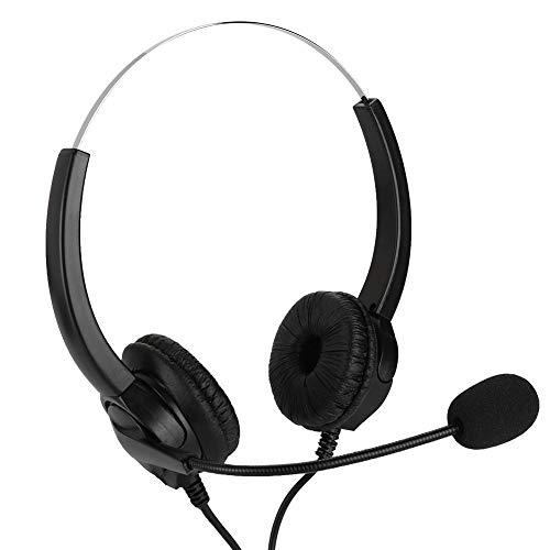 M ugast Auriculares VH530D-USB Call Center, Auriculares USB Multiusos para Juegos con cancelación de Ruido Soporte de micrófono Audio y Video para computadora PC, Servicio al Cliente