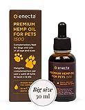 Enecta Premium Hemp Oil FOR Pets - Suplemento de Aceite de Cáñamo Rico en Omega 3-6 para Perros y Gatos de Todas Las Razas y Edades (30 ml)