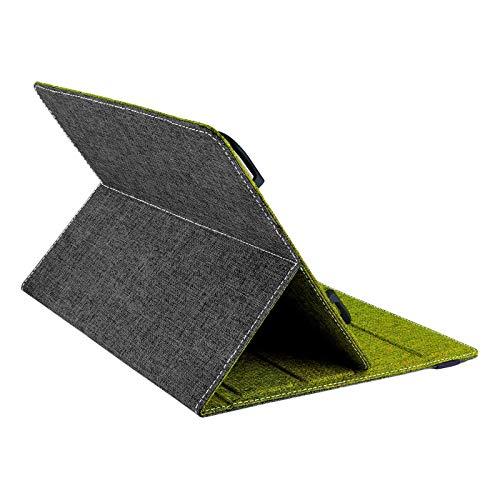 ROYALZ Wendecover Schutzhülle für LNMBBS P40 Tablet 10 Zoll Hülle 2020 (10,1') Schutz Case Design Schutzhülle Tablet Tasche, Farbe:Grau/Grün