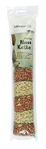 Erdtmanns Chaîne de Cacahuètes/Concassées pour Oiseaux 4 Sachets Cacahuètes