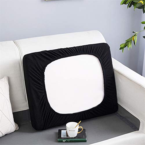 Fundas de cojín de repuesto para cojines individuales, fundas de cojín de sofá independientes, fundas de cojín de repuesto elásticas (chaise longue, negro)