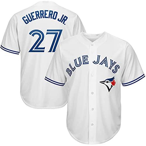 JFIOSD 2021 Blue Jays #27 Baseball Fan Jersey,Hombre Mujer Verano Deporte Respirable Camisa,(S-3XL),Blanco,L
