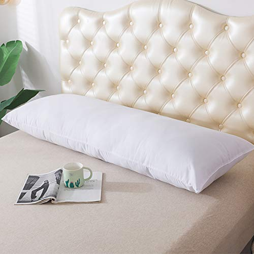 DOWNCOOL Large Body Pillow Insert- Soft Long Bed Pillow for Adult- Breathable Full Body Pillow for Side Sleeper - 20 x 54 inch