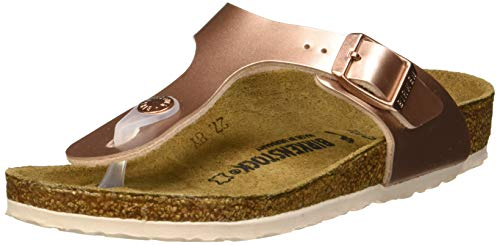 BIRKENSTOCK Mädchen Gizeh Zehentrenner, Braun (Electric Metallic Copper Electric Metallic Copper), 34 EU