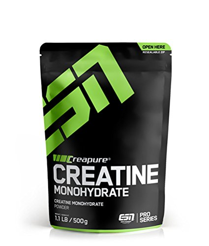 ESN Creapure® Creatine Monohydrate – 500g – 166 Portionen - hochwertiges reines Creatine Monohydrate – Vegan – Made in Germany