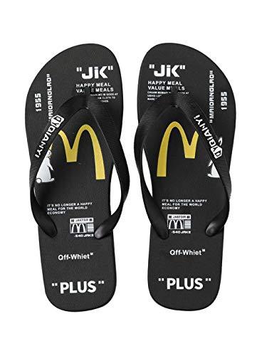 Mankvis Zapatillas De Playa para Hombre,Chanclas De Baño con Ducha Zapatillas Zapatillas Antideslizantes Transpirables Piscina Abierta Dedos Chanclas,Negro,EU38 39 UK5 6