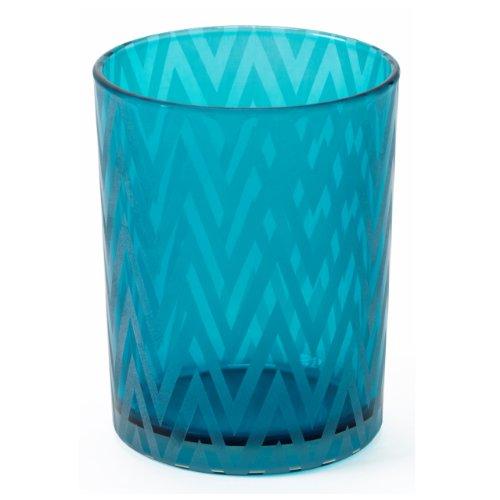 Shiraleah Wave Votive Candle Holder, Large, Turquoise