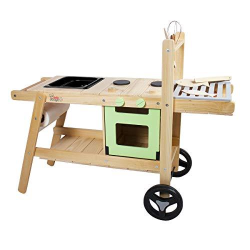 Edu Dizayn Matschküche Maxi 2 mit Grillfläche aus Holz