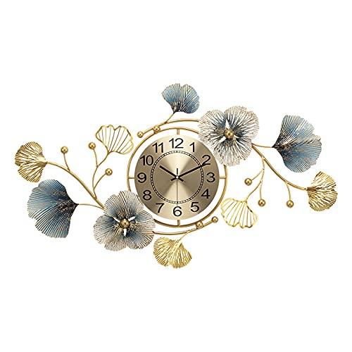 orologio da parete x soggiorno Hengqiyuan Orologio Parete Oversize Moderno Orologio Parete in Metallo Silenzioso Soggiorno Camera Letto Orologio Parete Digitale Ufficio Art Deco Hotel Decorazione
