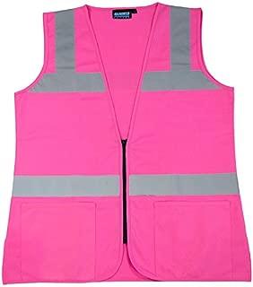 ERB 61910 S721 Non-ANSI Hi-Vizability Female Fitted Vest, Medium, Pink