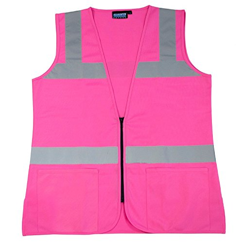 ERB 61910 S721 Non-ANSI Hi-Vizability Female Fitted Vest, Medium, Pink