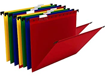 1InTheOffice Hanging Folders Letter Size Assorted Color 20 Pack