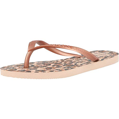 Havaianas Slim Animals, Infradito Donna, Multicolore (Ballet Rose 0076), 33/34 EU