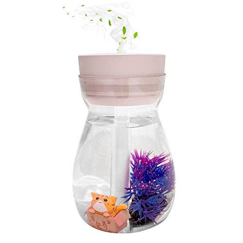 Cute humidifier,Micro Landscape Humidifiers,mini humidifier,desk humidifier,air humidifier(Pink)