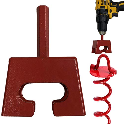 Keyfit Tools Ground Anchor Speed Staker Drill in Your Heavy Duty Spiral Ground Anchors in Seconds. Multi Functional Works On Dog Ties Tree Anchors Screw in Tent Stakes Solid Steel