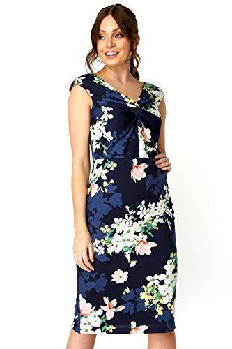 Roman Originals Vestido de mujer con estampado floral en la parte delantera,...
