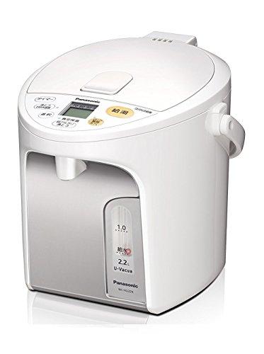 パナソニック 電気ポット 2.2L 真空断熱 省エネ保温 お好み温度調節 給湯量(2段階+コーヒー用) コードレス給湯 ホワイト NC-HU224-W