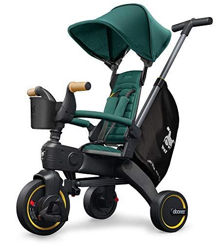 Doona Liki Trike S5 - das weltweit kompakteste Faltbare Dreirad - Hochwertig, multifunktional, Cooles Design - für Kinder von 10-36 Monate - Racing Green / grün