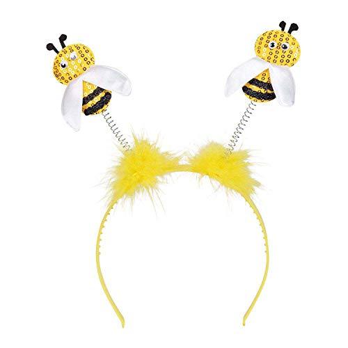 Boland 33013 - Haarreif Biene, gelb-schwarz, Tiara, Honigbiene, Kopfschmuck, Hummel, Wespe, Kostüm, Karneval, Mottoparty