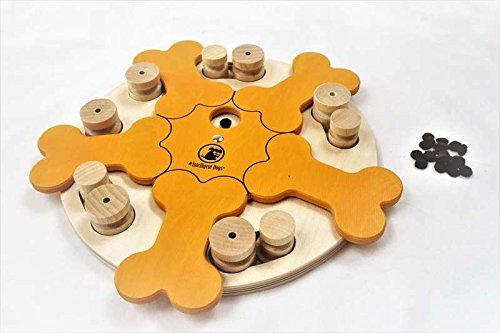 My Intelligent Dogs Interaktives Hundespielzeug aus Holz Knochen KARUSELL, M