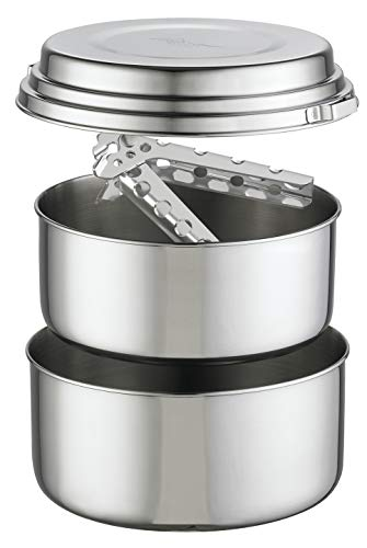 MSR (Mountain Safety Research) Kochgeschirr Alpine 2 Pot Set, Silver, One Size, 21720
