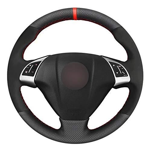 Pangtyus Cubierta Volante,para Fiat Punto Bravo Linea 2007-2019 Qubo Doblo 2008-2015,Funda de Volante de Coche Cosida a Mano Transpirable Antideslizante de Cuero DIY