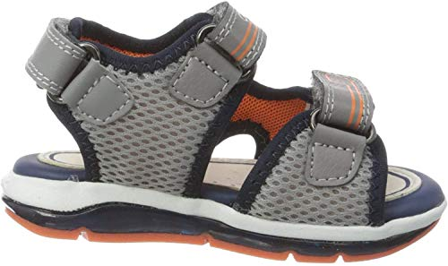Geox Baby-Jungen B Todo Boy A Sandalen, Grau (Grey/Orange C0036), 25 EU