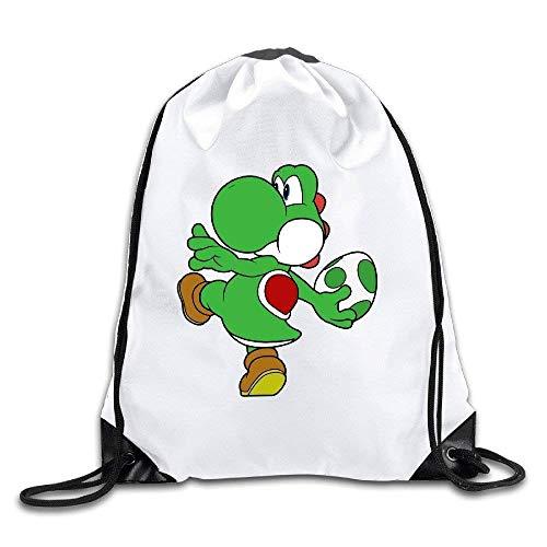Etryrt Mochilas/Bolsas de Gimnasia,Bolsas de Cuerdas, Yoshi with Dinosaur Egg Drawstring Backpacks/Bags