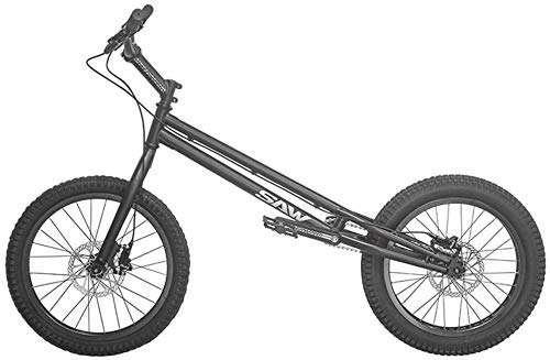 MU 20 Pulgadas Bmx Trial Bicicleta/Bici de Ensayo para Principiantes Y Avanzados, Frame Crmo Y Tenedor, con Freno,Negro,Versión de Alto