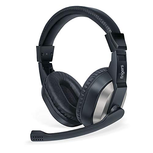 FINGERS F10 Wired Over the Ear Headset with Mic (Black, Slate Grey)