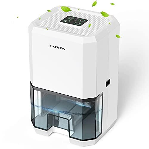 VATEEN Deshumidificador eléctrico portátil,1200ml Mini,purificación de aire,3 temporizadores,deshumidificador silencioso con modo de reposo,ideal para dormitorios, baños,etc. 🔥
