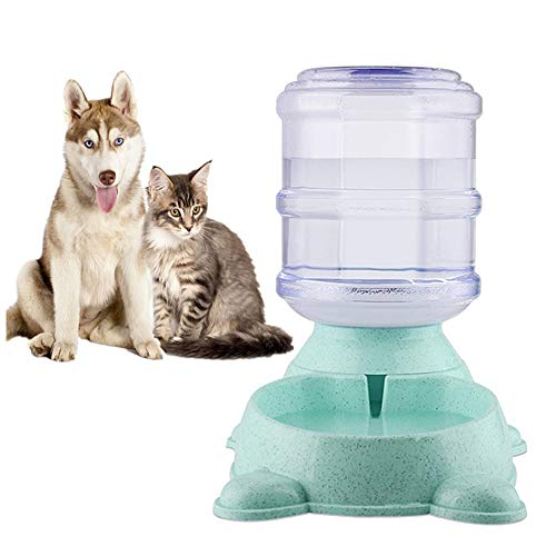 Automatische Pet Feeder Pet Feeder Afneembare Honden Feeder Pet Food Container Puppies Feeder Hondenvoer Kom Kitten Voedsel Feeder green,water feeder