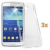 REY 3X Funda Carcasa Gel Transparente para Samsung Galaxy Grand 2 G7106, Ultra Fina 0,33mm, Silicona TPU de Alta Resistencia y Flexibilidad