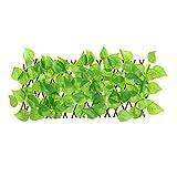 Wisson Recinzione in Legno Artificiale Retrattile, Decorazione della Parete Siepe Pianta Recinzione per la Privacy Schermo Verde Guardrail per Esterno Giardino recinto da Giardino Cortile