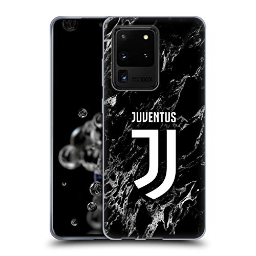 Head Case Designs Offizielle Juventus Football Club Schwarz Marmor Soft Gel Handyhülle Hülle Huelle kompatibel mit Samsung Galaxy S20 Ultra 5G