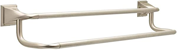 Everly 24 In Double Towel Bar In SpotShield Brushed Nickel