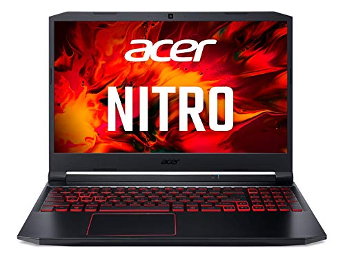 Acer Nitro 5 (AN515-44-R5FT) 39,6 cm (15,6 Zoll Full-HD IPS matt) Gaming Laptop (AMD Ryzen 5 4600H, 8 GB DDR4 RAM, 512 GB PCIe SSD, NVIDIA GeForce GTX 1650Ti, Win 10 Home) schwarz/rot