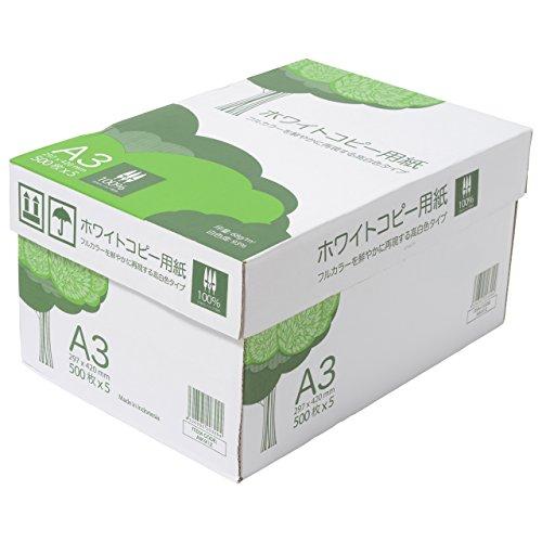 スマートマットライト APP 高白色 ホワイトコピー用紙 A3 白色度93% 紙厚0.09mm 2500枚(500枚×5冊)