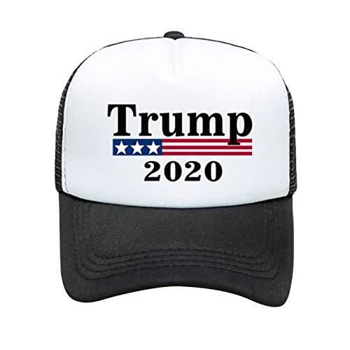 Spray Gorra De Béisbol Trump 2020, Gorra Trump, Gorra Donald Trump, Gorra Keep American Great Trump 2020 con Muñequera Gorra Ajustable para La Piel para 2020 Make America Great Again
