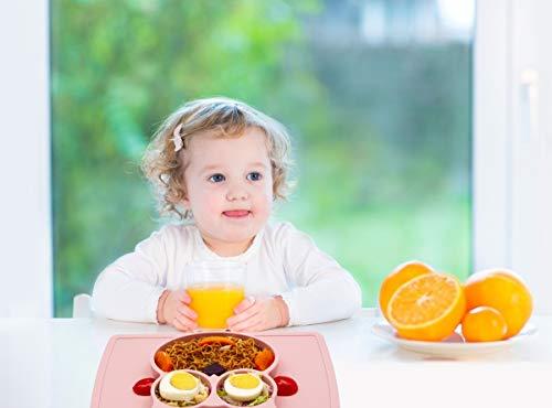QShareお食事用ミニマット 赤ちゃんランチョンマット離乳食 食器 ピッタリ吸着 ひっくり返らない 幼