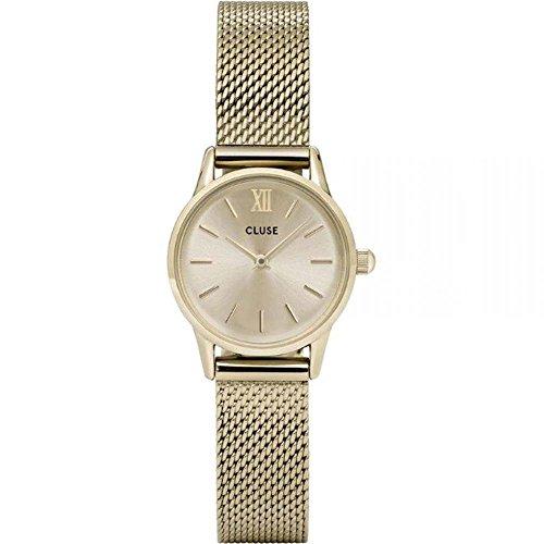 Cluse Unisex Erwachsene Digital Quarz Uhr mit Edelstahl Armband CL50003