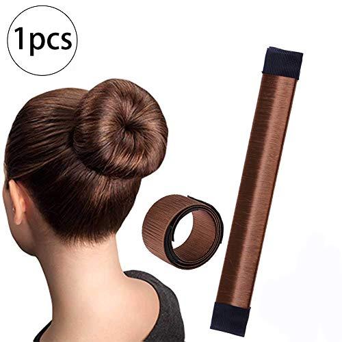 Xiton 1PC Dutt Maker Donut Maker FranzöSisch Twist Hair Bun Maker Haar Falten Wickeln Haarband ZubehöR Diy Haar Set Frisurenhilfe FüR Frauen MäDchen(Braun)