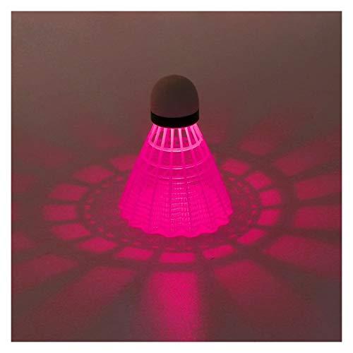 DOUBLE NICE Bádminton 3 unids Luminoso bádminton Noche Oscuro Coloreado Espuma de plástico Que Brillan intensamente bádminton Pluma