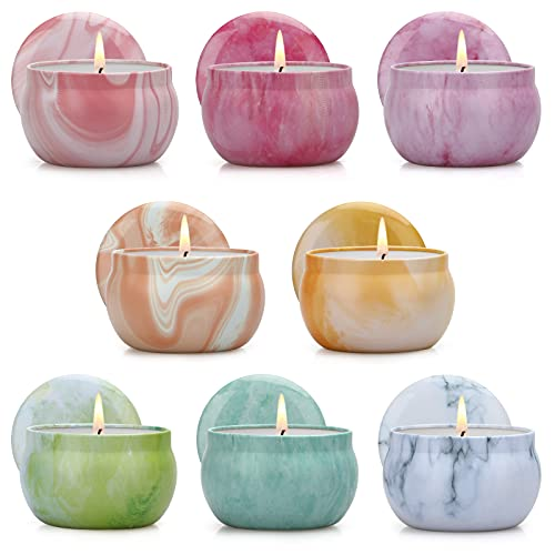 Nachy Scented Candles Set, Gifts for Women Soy Candles for Home Scented Decorative Aromatherapy Candles for Christmas Birthday Housewarming Party Favor Bath, 8 Pack