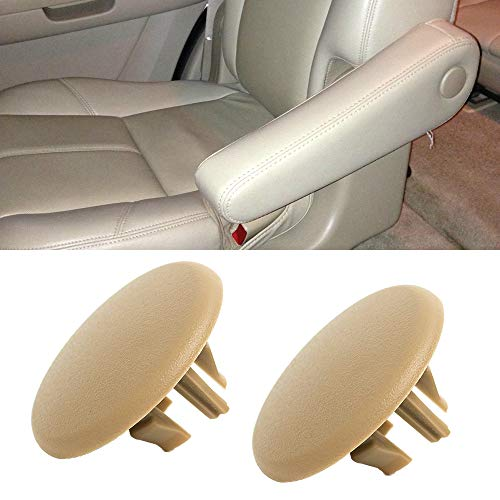 A ABIGAIL Armrest Cap Cover for 2007-2019 Chevy Tahoe, Suburban, Yukon, Cadillac Escalade Seat Parts Left or Right Rear Bucket Seats Arm Rest Handle Trim Bolt Replaces 15279689 (Beige)