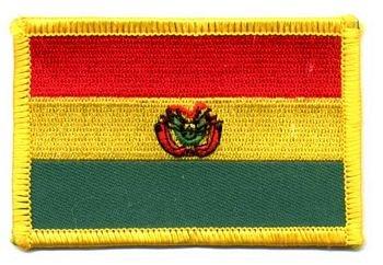 Flaggen Aufnäher Patch Bolivien Fahne Flagge NEU