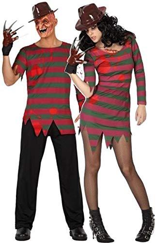 Coppia di Costumi da Incubo, da Donna e da Uomo, per Halloween