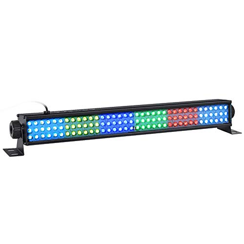 LED Wash Lights, LaluceNatz 20' 25W 108LEDs RGB Wash Light Bar DMX Control Auto Play Strobe Effect Uplighting for Wedding Church Christmas Party Stage Lighting